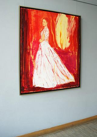Jacek Łydżba : Lady : Oil on Canvas