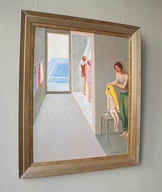 Katarzyna Karpowicz : Swimming pool 1990 : Oil on Canvas