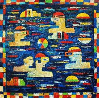 Darek Pala : Blue Pool 2 : Oil on Canvas