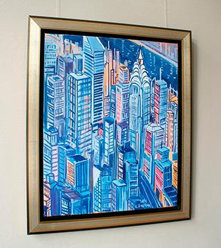 Edward Dwurnik : Manhattan : Oil on Canvas