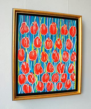 Edward Dwurnik : Tulips field : Oil on Canvas