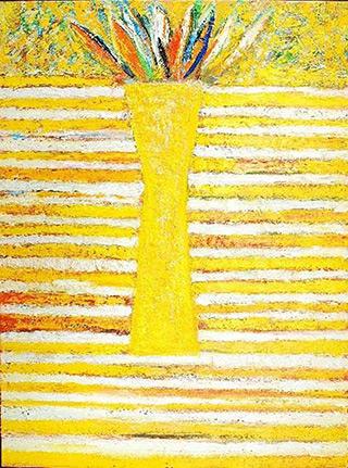 Darek Pala : Vase Light Yellow : Oil on Canvas