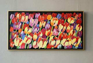 Beata Murawska : Panoramic tulips : Oil on Canvas