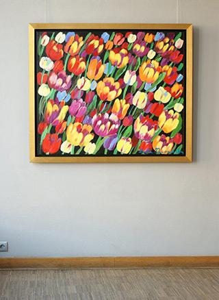 Beata Murawska : Spectacular tulips : Oil on Canvas