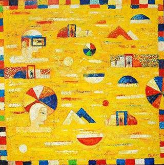 Darek Pala : Yellow Pool : Oil on Canvas