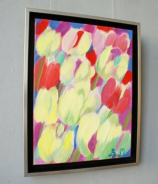 Beata Murawska : Tulips with joy : Oil on Canvas