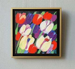 Beata Murawska : White tulips and other : Oil on Canvas