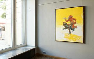 Jacek Łydżba : Kharon and Cerberus : Oil and enamel on canvas
