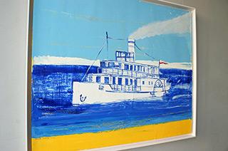 Jacek Łydżba : River ship : Oil on Canvas