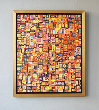 Krzysztof Pająk : The sun of Africa : Oil on Canvas