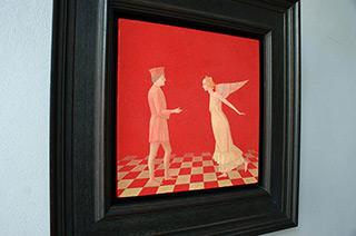 Mikołaj Kasprzyk : Meeting in Urbino : Oil on Canvas