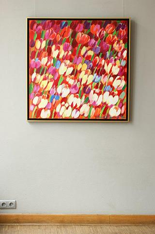 Beata Murawska : Red wind : Oil on Canvas