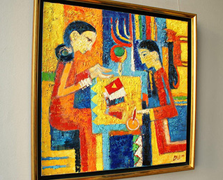 Darek Pala : Solitaire : Oil on Canvas