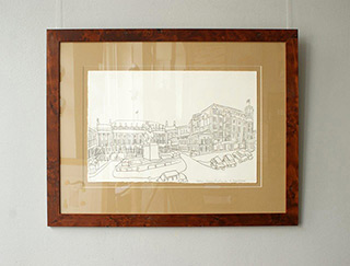 Edward Dwurnik : Hotel Bristol and Presidential Palace : Pencil on paper
