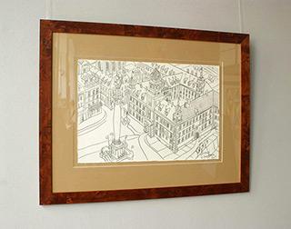 Edward Dwurnik : Royale Castle : Pencil on paper