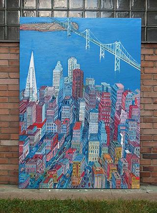 Edward Dwurnik : San Francisco : Oil on Canvas