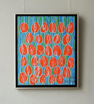Edward Dwurnik : Tulips No 2 : Oil on Canvas