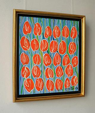 Edward Dwurnik : Tulips No 3 : Oil on Canvas