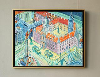 Edward Dwurnik : Warsaw - Royale Castle : Oil on Canvas