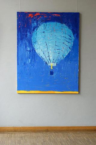 Jacek Łydżba : Balloon : Oil on Canvas