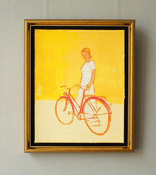 Jacek Łydżba : Dress in yellow polka dots : Oil on Canvas