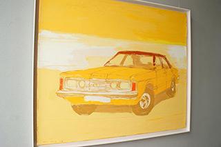 Jacek Łydżba : Ford Taunus : Oil on Canvas