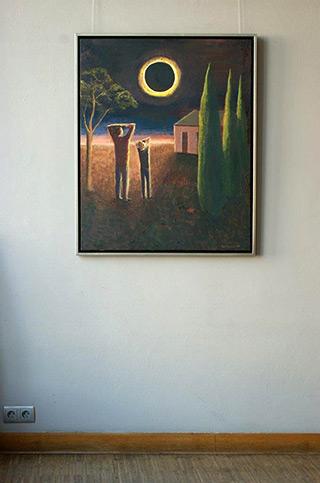 Katarzyna Karpowicz : Eclipse of the sun : Oil on Canvas