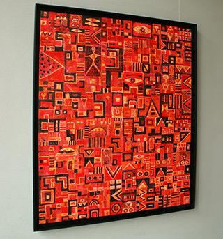 Krzysztof Pająk : Crimson journey : Oil on Canvas