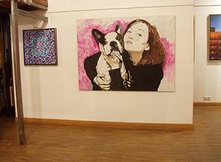 Agnieszka Sandomierz : Me and my dog : Felt pen on Canvas