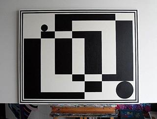 Małgorzata Jastrzębska : Painting No 230 : Oil on Canvas
