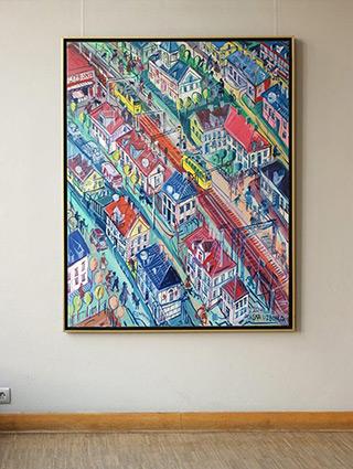 Edward Dwurnik : Warsaw - Lisabon : Oil on Canvas