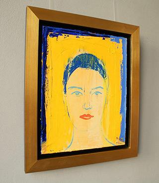 Jacek Łydżba : Girl in pure colors : Oil on Canvas