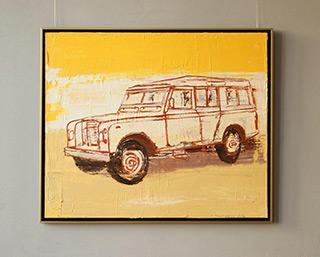Jacek Łydżba : Land Rover : Oil on Canvas