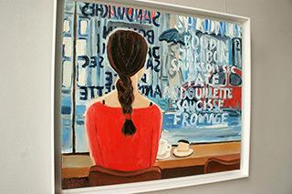 Krzysztof Kokoryn : Looking at the rainy streets : Oil on Canvas