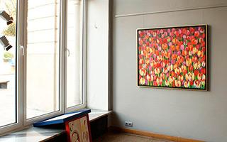 Beata Murawska : Tulips everywhere : Oil on Canvas