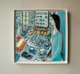 Krzysztof Kokoryn : Urban life : Oil on Canvas