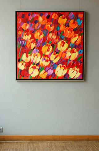 Beata Murawska : Happy spring : Oil on Canvas