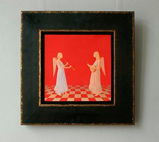 Mikołaj Kasprzyk : Angels duo : Oil on Canvas