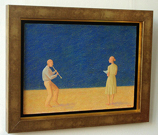 Mikołaj Kasprzyk : Duet : Oil on Canvas