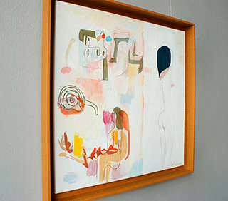 Jacek Cyganek : And when we disappear (brown frame) : Tempera on canvas