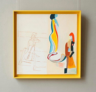 Jacek Cyganek : I do not even know which way to look : Tempera on canvas