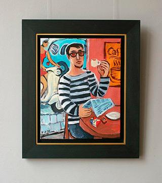 Krzysztof Kokoryn : The first coffee : Oil on Canvas