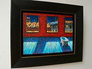 Adam Patrzyk : Bath in the interior : Oil on Canvas