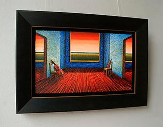 Adam Patrzyk : Interior with instruments : Oil on Canvas
