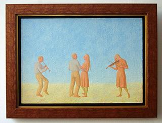 Mikołaj Kasprzyk : Party : Oil on Canvas