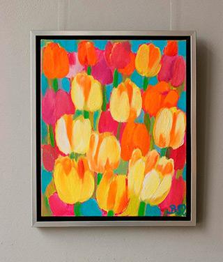 Beata Murawska : Happy tulips : Oil on Canvas