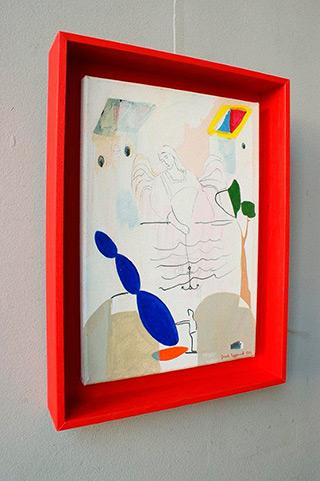 Jacek Cyganek : Anchor yourself : Tempera on canvas