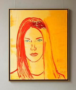 Jacek Łydżba : Young woman : Oil on Canvas