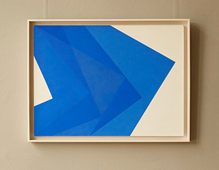 Joanna Stańko : White and Blue : Acrylic on linen