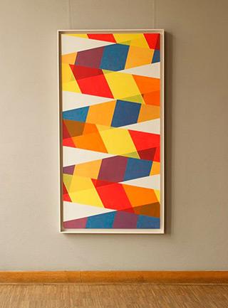 Joanna Stańko : White and colors : Acrylic on linen